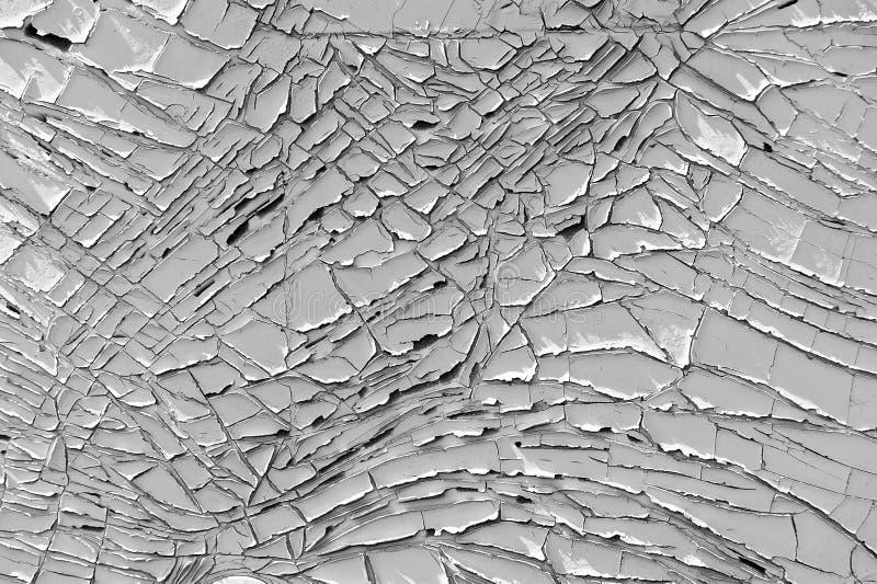 Oude gebarsten verf grunge textuur stock foto's