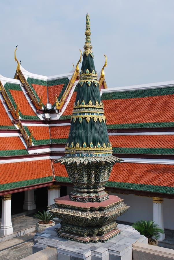 Oude gebouwde koninklijke tempel stock afbeelding