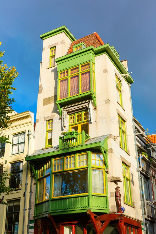 Oude gebouwen in Amsterdam, Nederland royalty-vrije stock fotografie