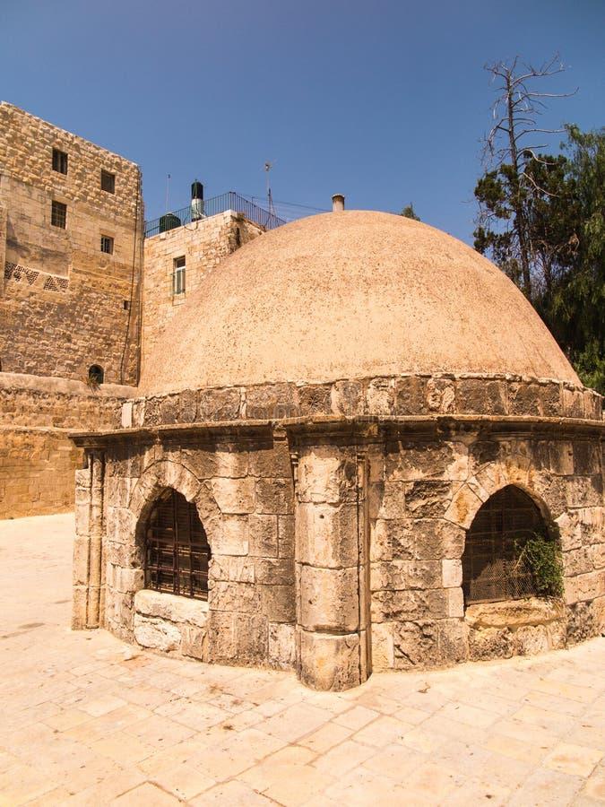 Oude gebouwen in een Koptisch deel van het complex van de Basiliek o royalty-vrije stock fotografie