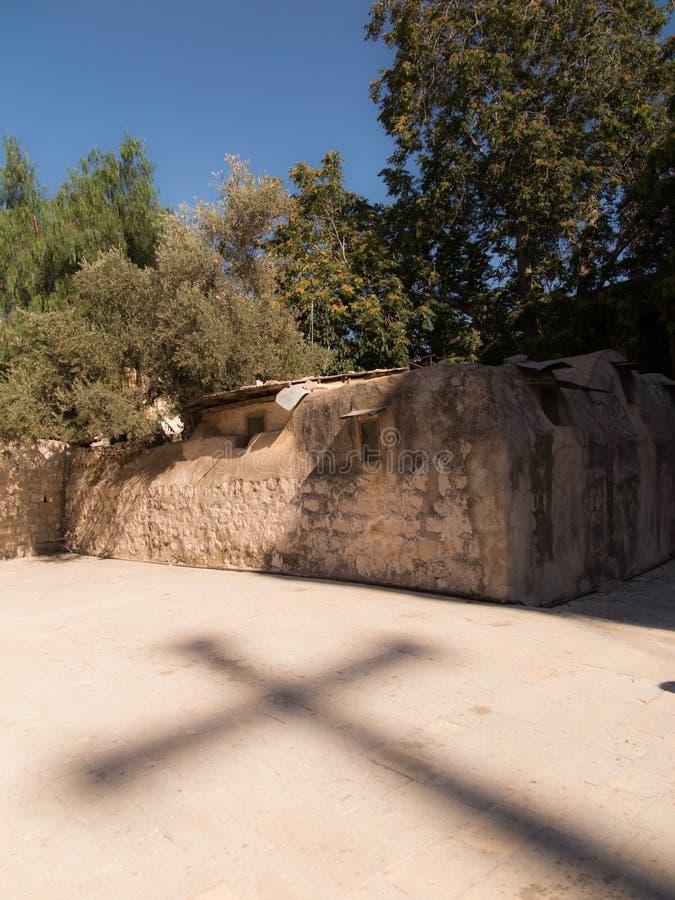 Oude gebouwen in een Koptisch deel van het complex van de Basiliek o royalty-vrije stock afbeelding