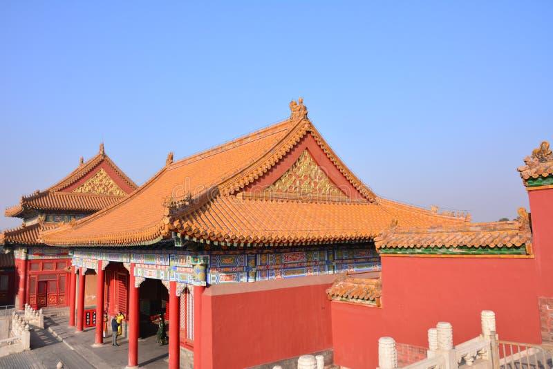 Oude gebouwen in het Keizerpaleis royalty-vrije stock fotografie