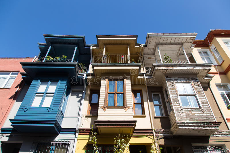 Oude Gebouwen in Istanboel stock foto's