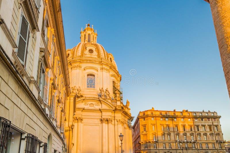 oude gebouwen langs de straten van Rome royalty-vrije stock foto