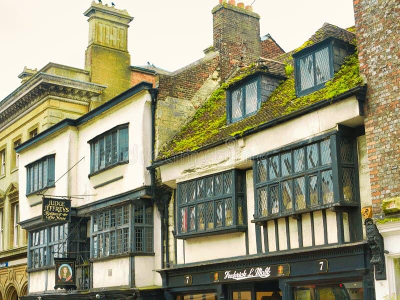 Oude gebouwen van Dorchester royalty-vrije stock afbeeldingen