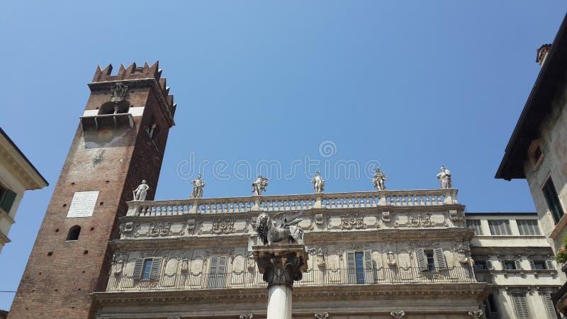 Oude gebouwen, Verona stock foto's