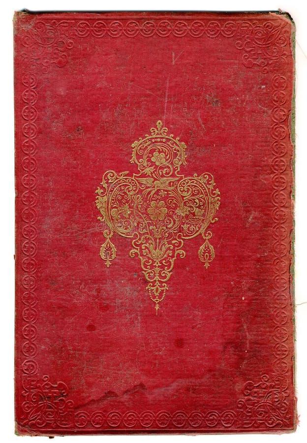 Oude gebroken boektextuur met decoratief frame stock afbeeldingen