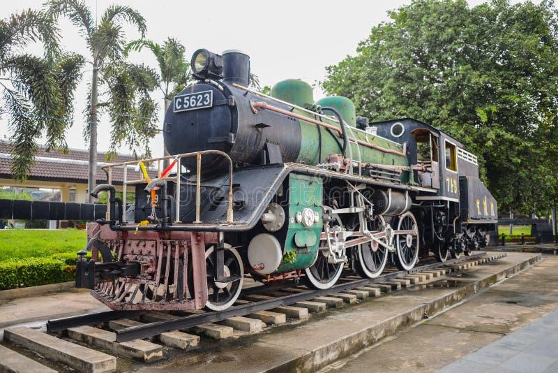Oude gebruikte trein tijdens in Wereldoorlog ll stock afbeeldingen