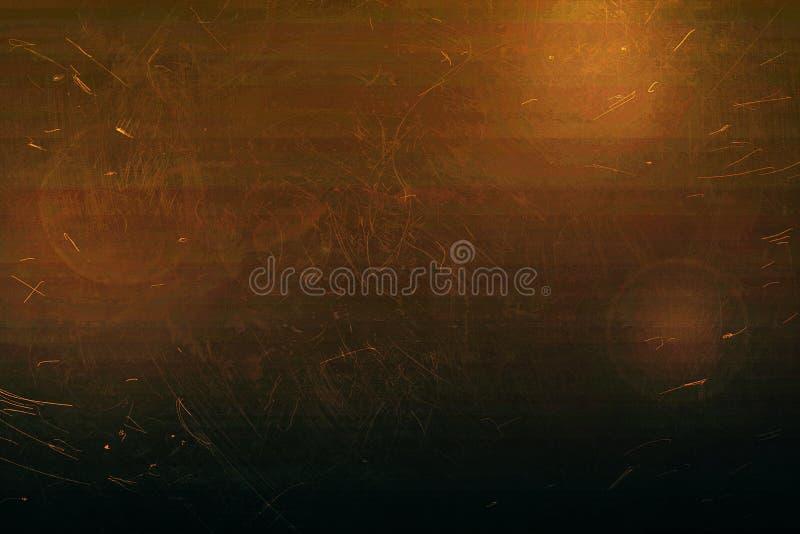 Oude gekraste roestige achtergrond, gradiënttextuur stock afbeelding