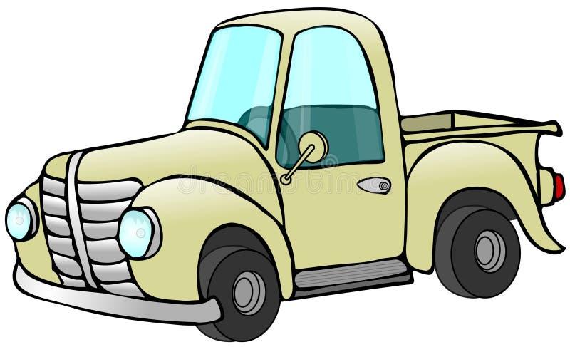 Oude Gele Vrachtwagen vector illustratie
