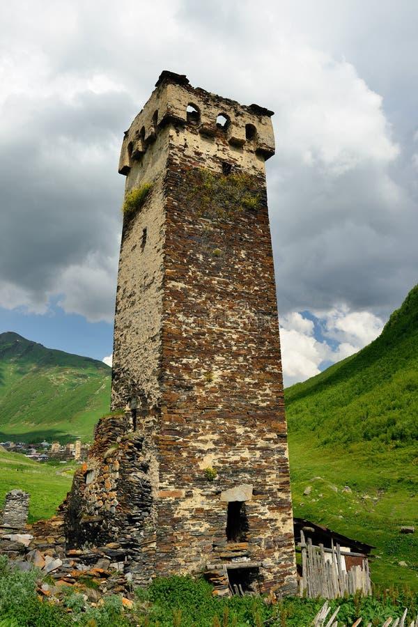Oude Georgia Watchtowers royalty-vrije stock fotografie