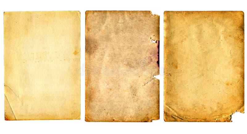 Oude geplaatste documenten stock fotografie