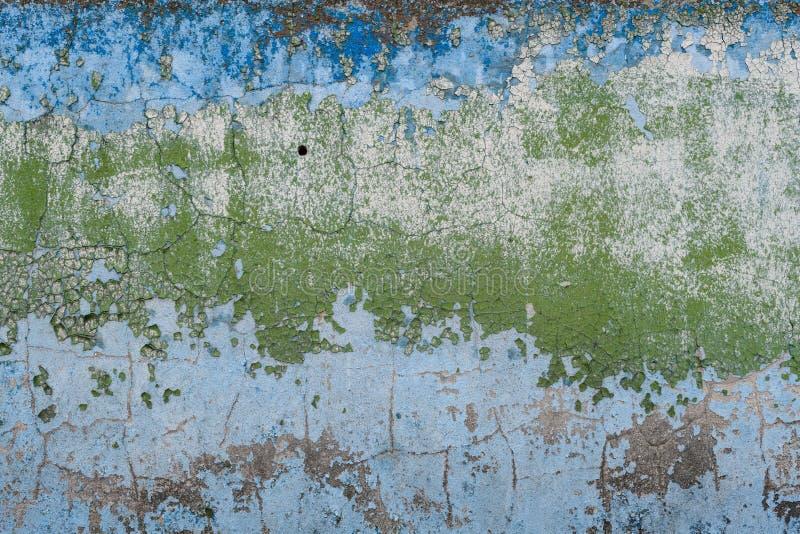 Oude geschilderde concrete muur royalty-vrije stock foto's