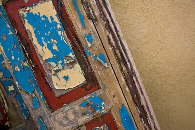 Oude Geschilderde Deur stock afbeeldingen