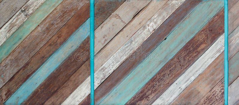 Oude Geschilderde Houten Textuur Als achtergrond stock foto's