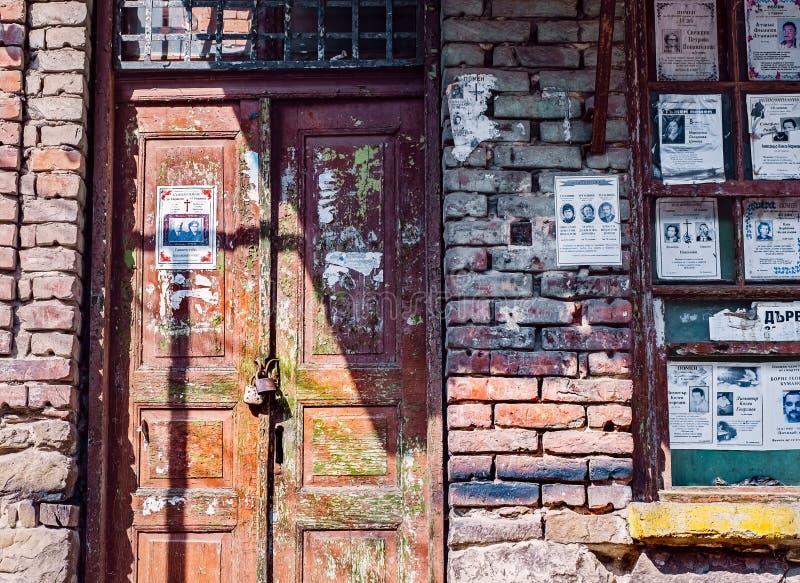 Oude gesloten en verlaten winkel stock fotografie