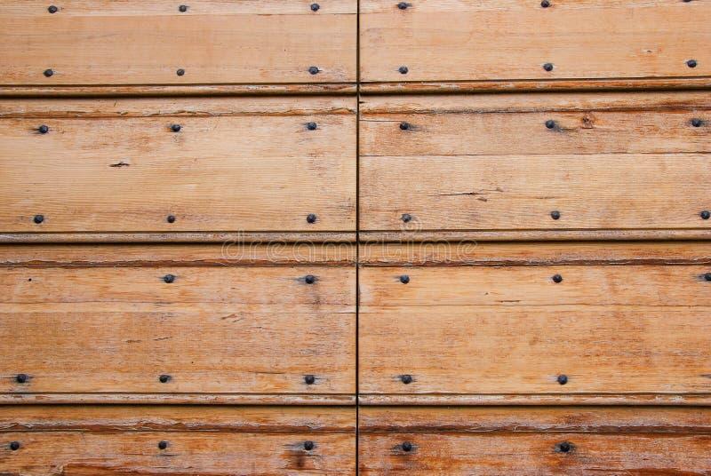 Oude geweven houten deur stock afbeelding