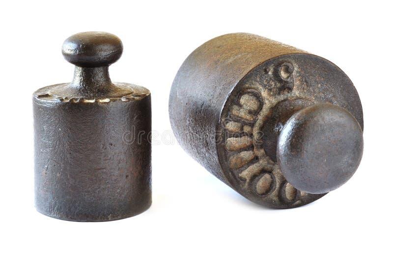 Oude gewichtsschaal stock afbeelding