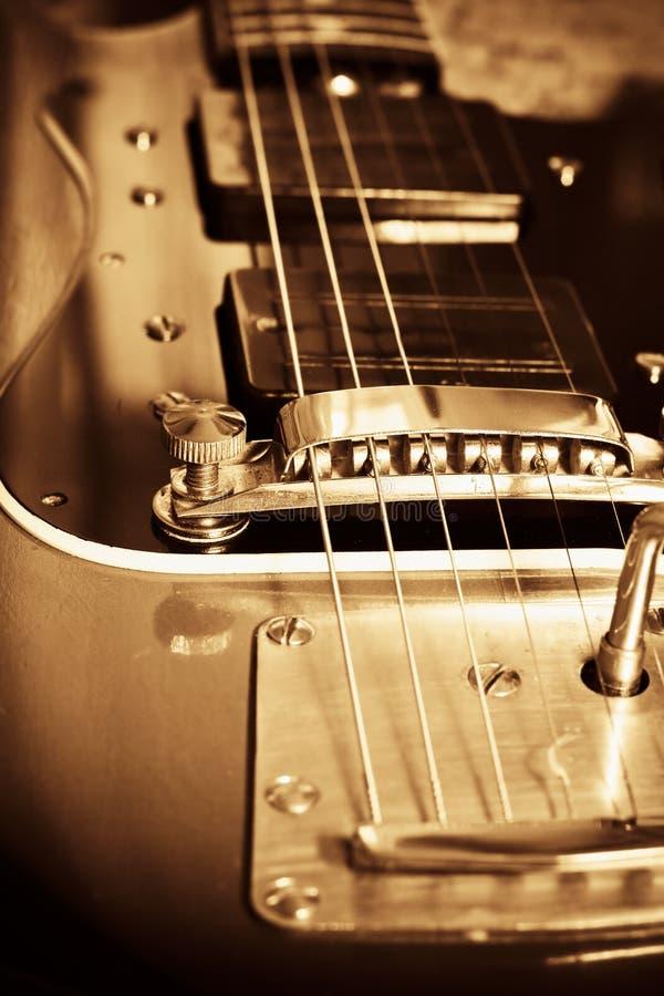 Oude gitaar stock afbeelding