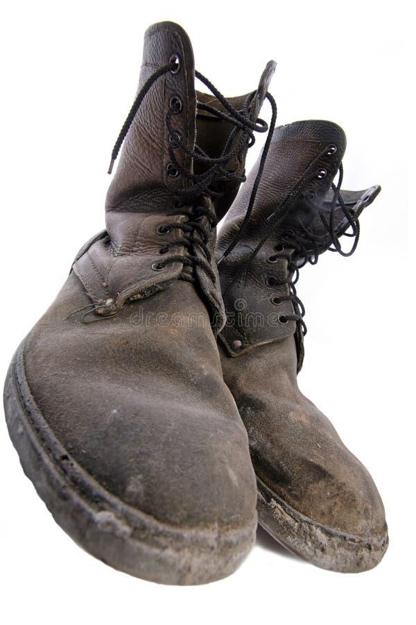 Oude goede schoenen stock fotografie