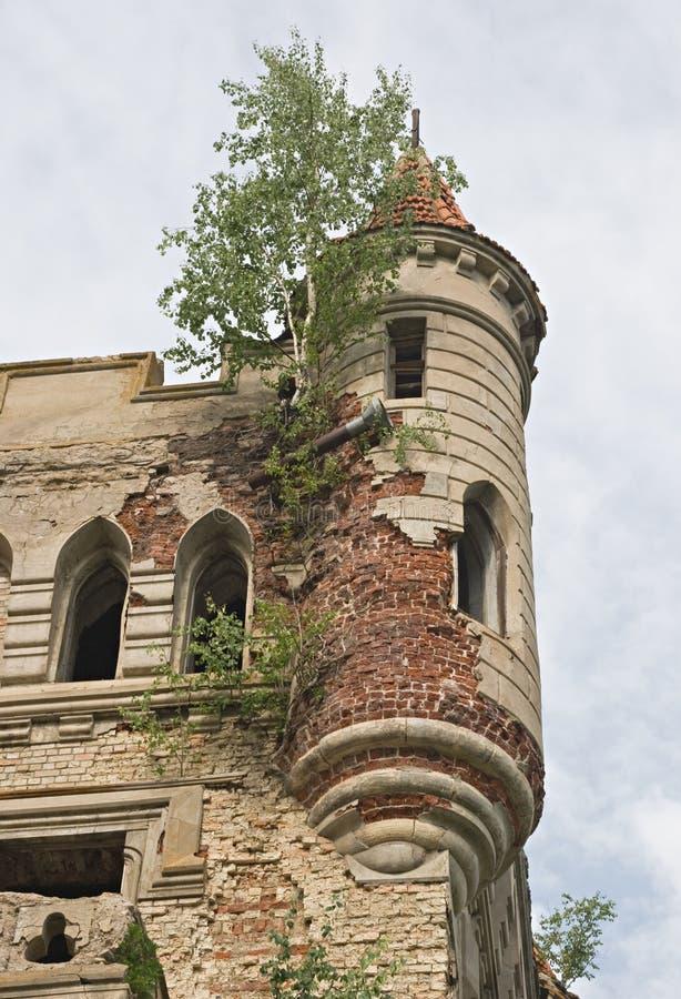 Oude gotische toren stock foto's
