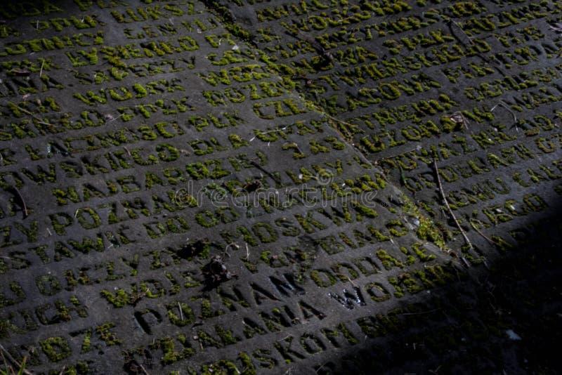 Oude granietplak royalty-vrije stock afbeeldingen