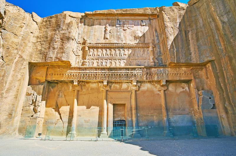 Oude Graven in Persepolis, Iran royalty-vrije stock afbeelding
