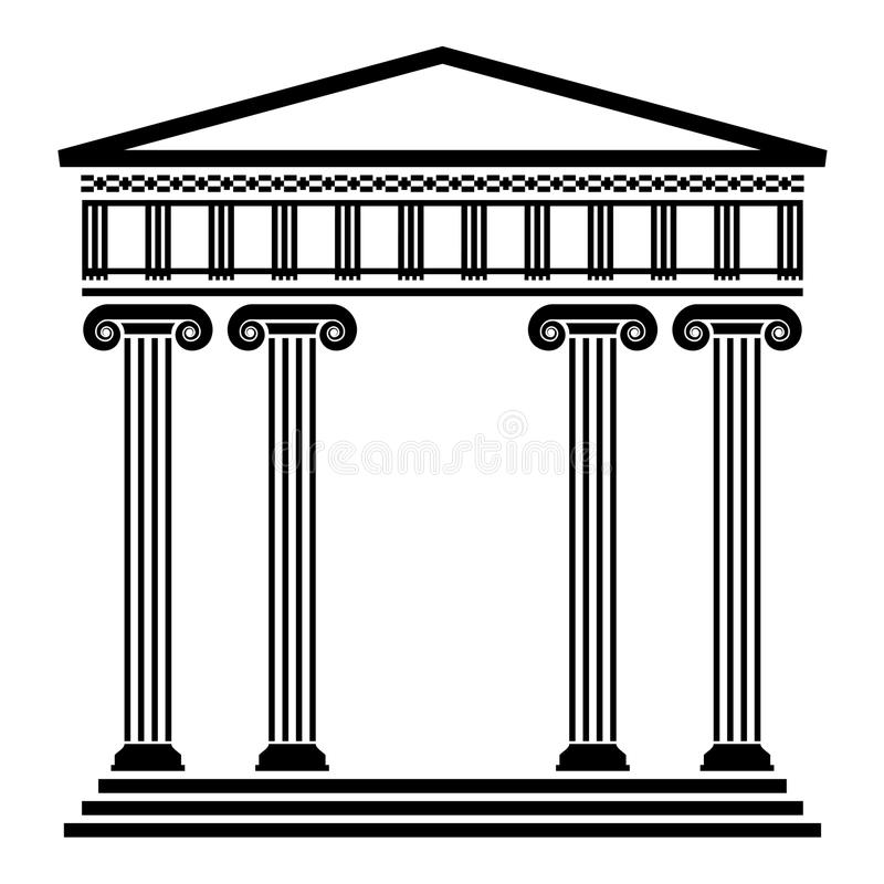 Oude Griekse architectuur stock illustratie