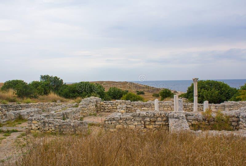 Oude Griekse Chersonesus Taurica in de Krim royalty-vrije stock fotografie