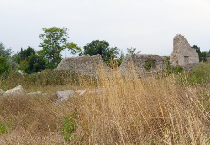 Oude Griekse Chersonesus Taurica dichtbij Sebastopol in de Krim royalty-vrije stock afbeelding