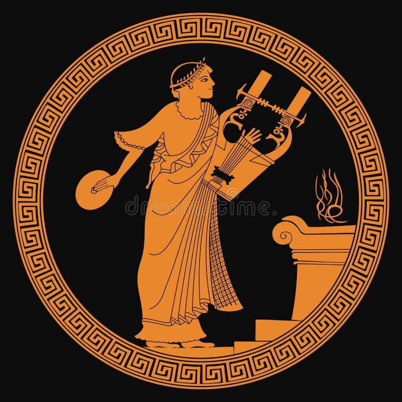 Oude Griekse God royalty-vrije illustratie