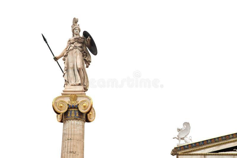 Oude Griekse god Athena stock afbeeldingen