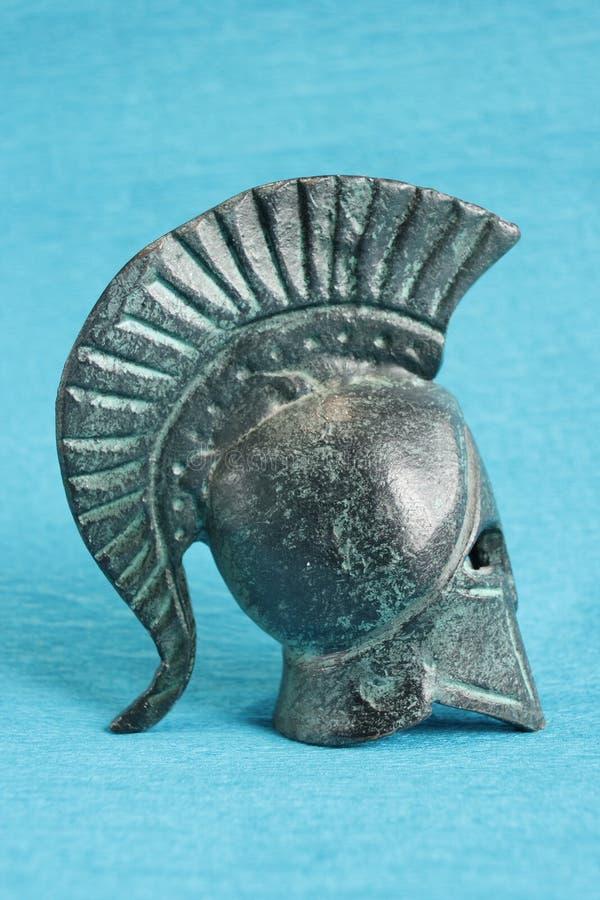 Oude Griekse helm royalty-vrije stock foto's