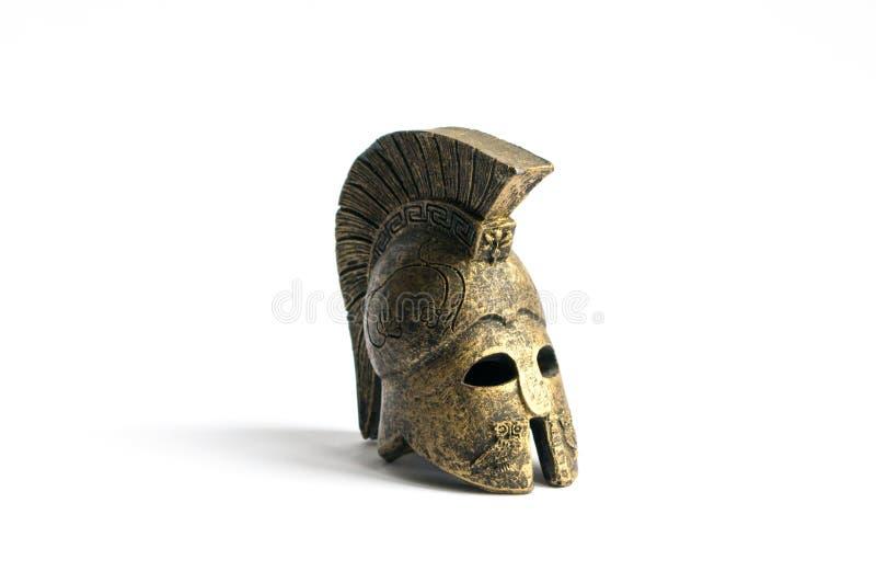 Oude Griekse helm royalty-vrije stock fotografie
