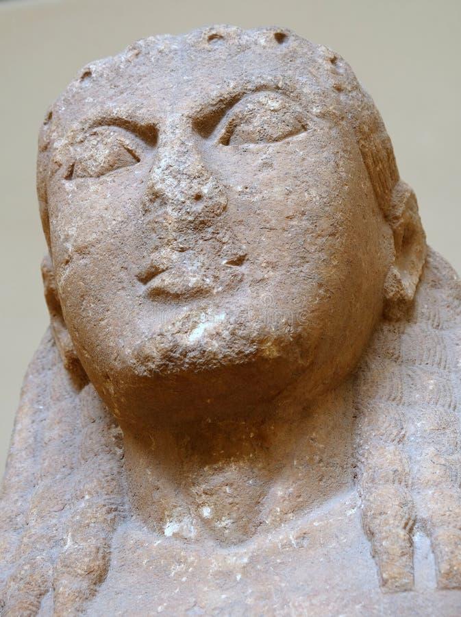 Oude Griekse Marmeren Standbeelden, Delphi Museum, Griekenland stock fotografie