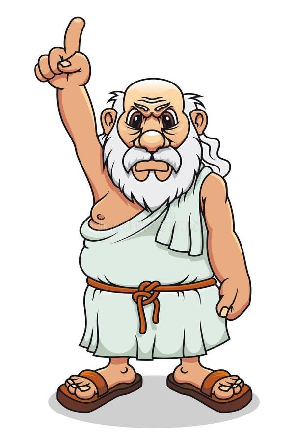 Oude Griekse mens stock illustratie