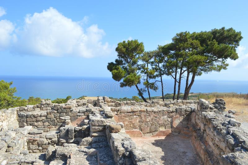 Oude Griekse stad royalty-vrije stock foto
