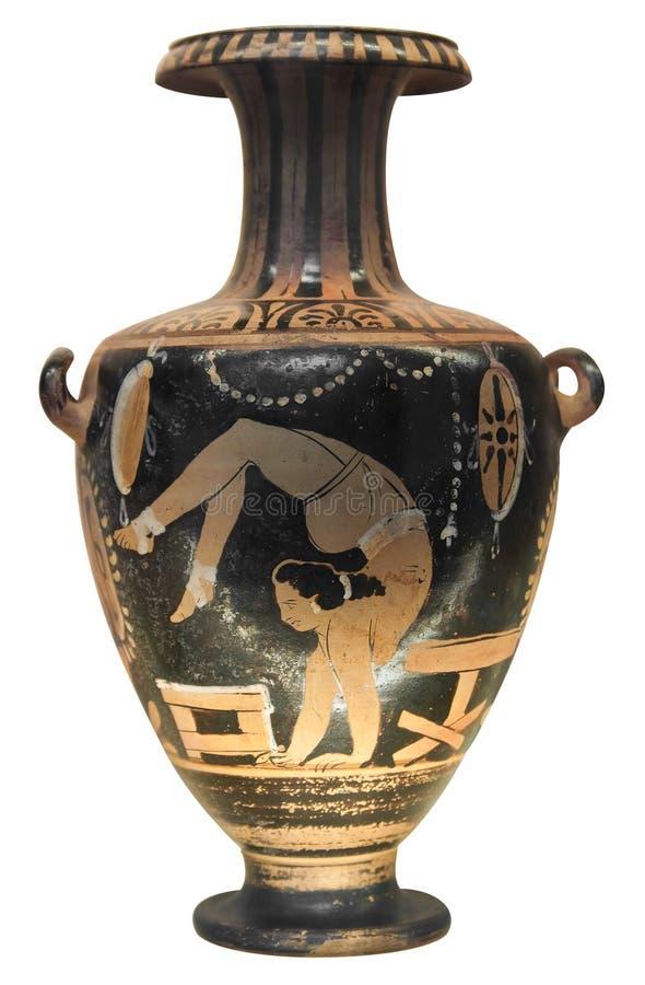 Oude griekse vaas die een turner afschildert stock afbeelding afbeelding 16359247 - Oude griekse decoratie ...