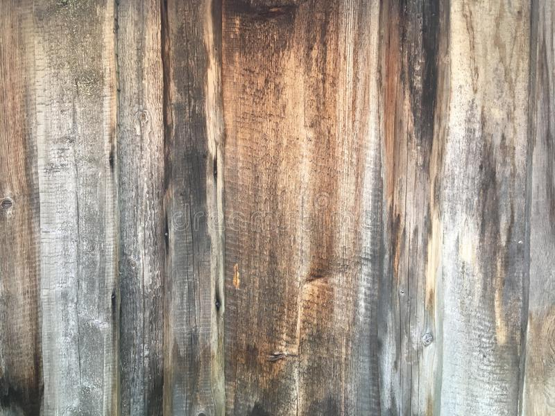Oude grijze houten omheiningsachtergrond stock afbeelding