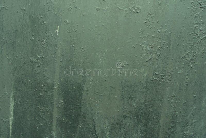 Oude groene grungy metaaloppervlakte/textuur/achtergrond stock fotografie