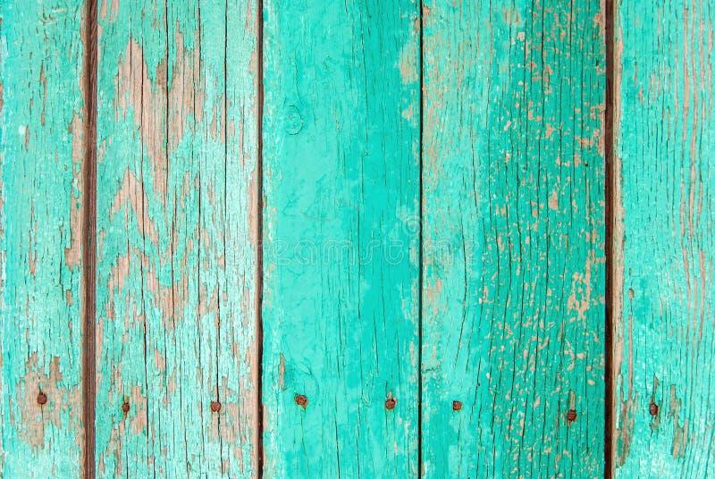 Oude groene houten omheiningsachtergrond royalty-vrije stock foto's