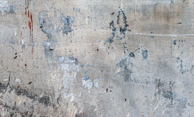 Oude grunge abstracte concrete textuur met deuken stock foto's
