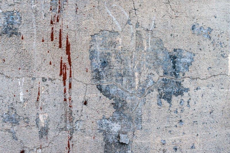 Oude grunge abstracte concrete textuur met deuken stock foto