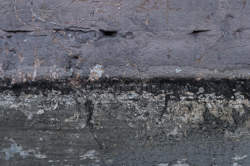 Oude grunge abstracte concrete textuur met deuken stock afbeeldingen