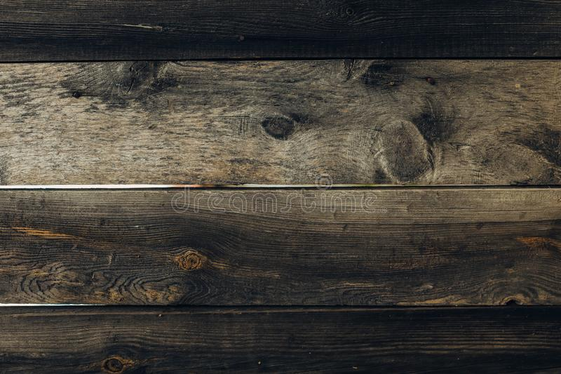 Oude grunge donkere geweven houten achtergrond stock foto