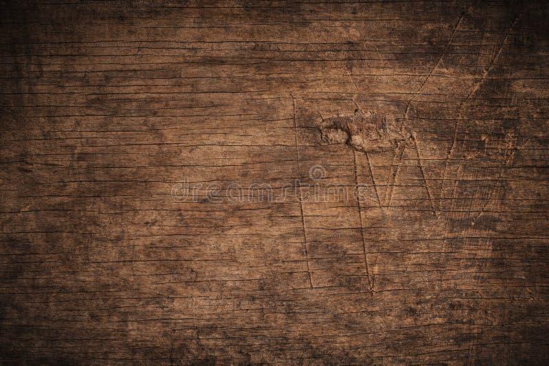 Oude grunge donkere geweven houten achtergrond, de oppervlakte van de oude bruine houten textuur, het hoogste mening bruine houte stock foto's