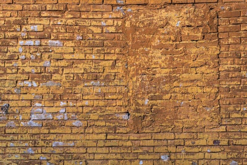 Oude grungebakstenen muur stock afbeelding