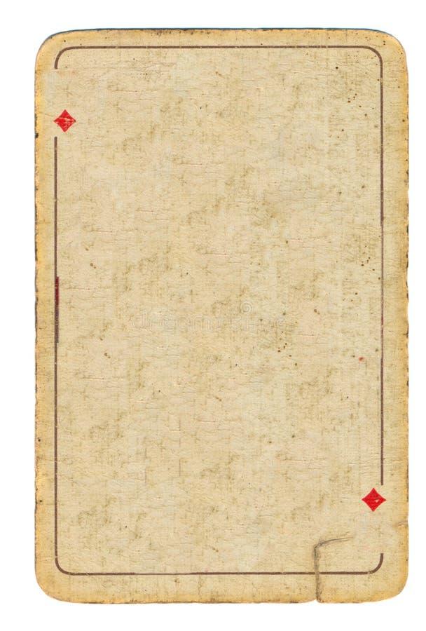 Oude grungespeelkaart van diamantenachtergrond royalty-vrije stock afbeelding