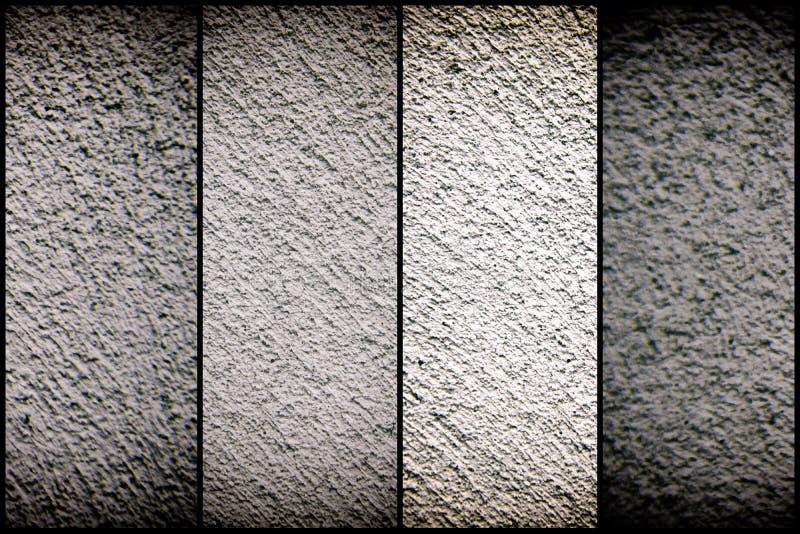 Oude grungy cementtextuur, grijze concrete muurachtergrond voor website of mobiele apparaten stock afbeeldingen