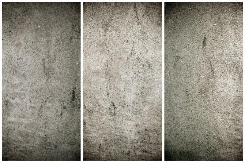 Oude grungy cementtextuur, grijze concrete muurachtergrond voor website of mobiele apparaten stock fotografie